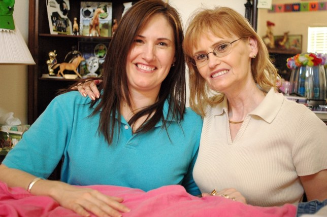 "Abby and her daughter Dawna ""Chele"" Milligan pose together in 2006 in Dallas."