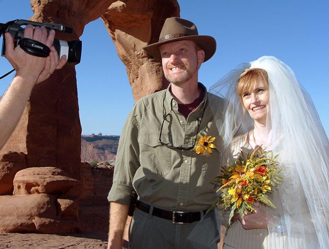 Abby and I wed on October 12, 2004 at Delicate Arch in Arches National Park, Utah.