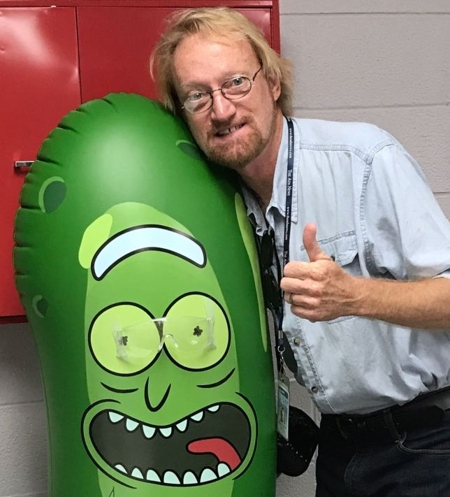 "This is me with a pickle, but not ""the"" pickle."