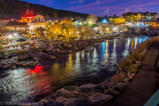 Here is an early edit of an image I made of the San Juan Riverwalk at dusk in Pagosa Springs, Colorado.