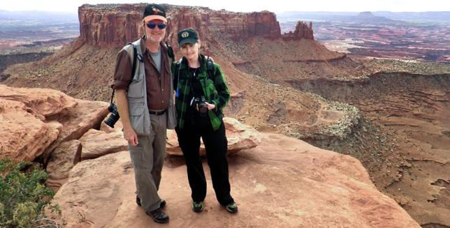 Richard and Abby pose for a photo at Canyonlands Nation Park in Utah, October 2010.