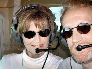 Abby and Richard fly a Cessna 152 over the skies of Oklahoma in April 2003.