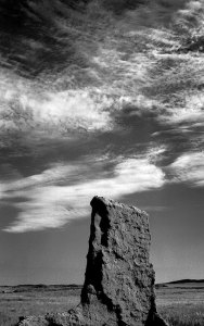 Sky and Decayed Wall, Fort Union National Monument