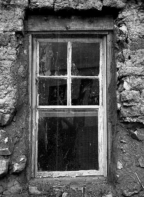 WIndow, adobe house, Villanueva, New Mexico