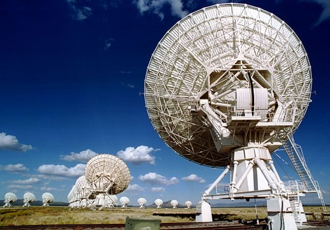 View showing numerous dishes in the Very Large Array.