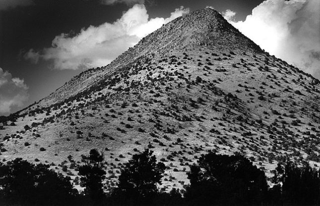 Tres Montosas, a peak on U.S. 60 near Magdalena, New Mexico; I spotted this handsome peak on the road to the VLA.