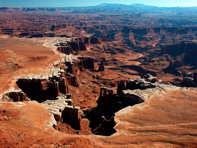The White Rim Overlook trail is one of the best, since it allows anyone who can walk a mile to view some of the best scenery in the American West.