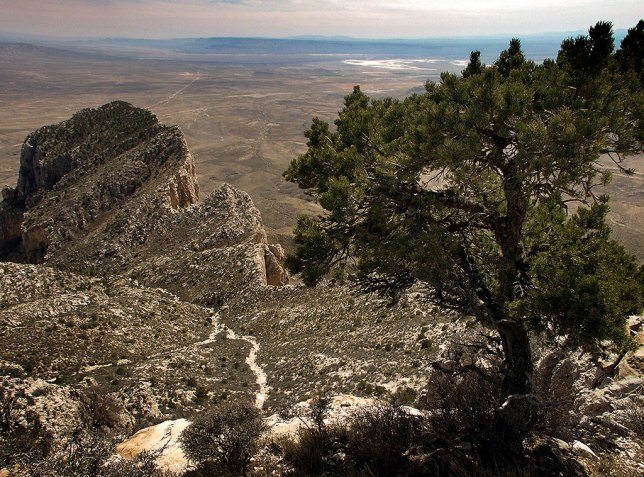 El Capitan Peak is visible below Guadalupe Peak.