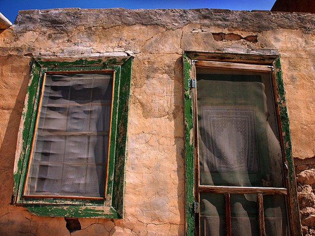 Door, window and wall, Acoma Pueblo