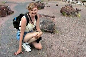 Abby at Petrified Forest National Park, Arizona