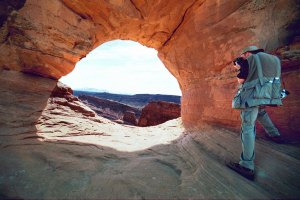 Your host photographs Frame Arch just around the corner from Delicate Arch in Arches National Park.
