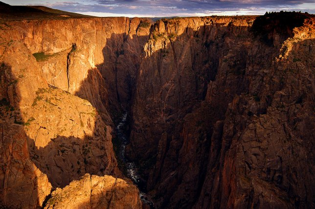 Last light filled Black Canyon with color.