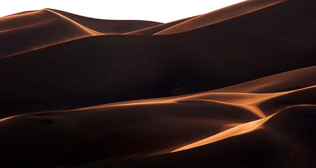 Late afternoon light on the dunes.