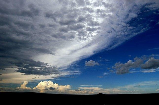 Thunderstorm near Sierra Grande peak, New Mexico.