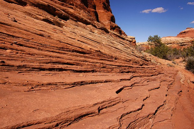 Layers of sandstone along the trail.