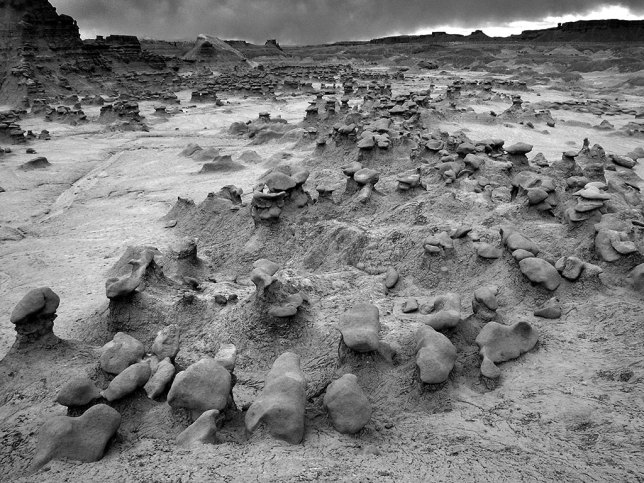 By comparison to the last image, this view, made at 18mm, shows the expansive floor of Goblin Valley.