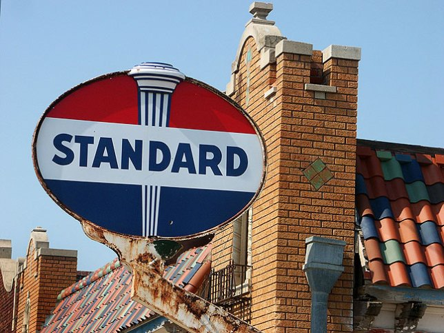 We spotted this handsome Standard Oil sign in Nebraska.