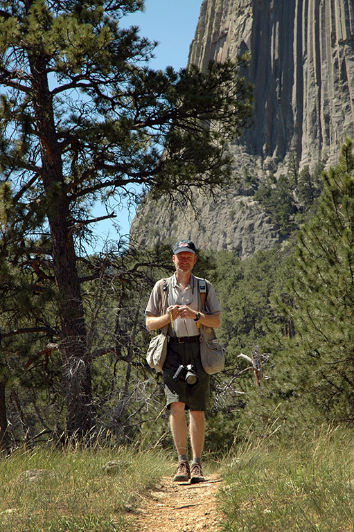 The author hikes the Red Beds trail at Devil's Tower.