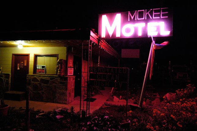 Abby and I found the Mokee Motel in Bluff, Utah, clean and charming.