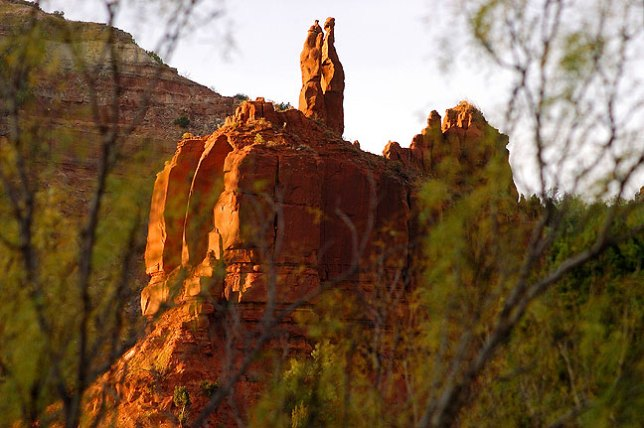 These majestic formations stand deep in the heart of Caprock's Upper Canyon trail.