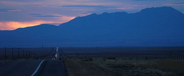Last light, US 60, central New Mexico