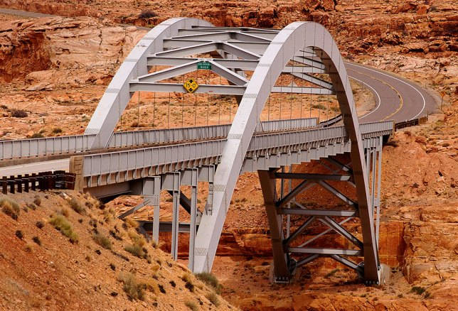 I felt inspired to photograph the steel bridge over Glen Canyon at Hite Crossing.