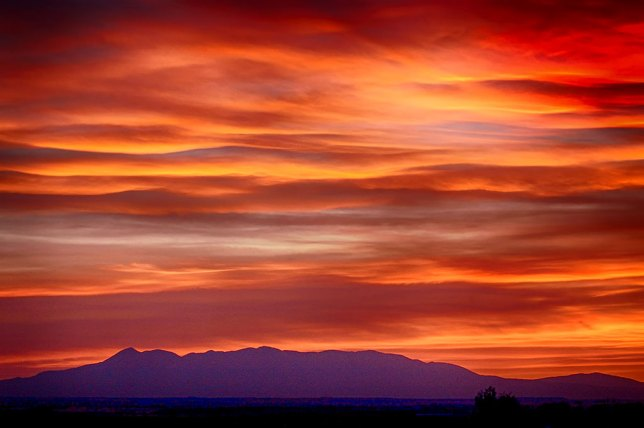 I made this image of the Abajo Mountains after sunset from near the Colorado-Utah border.