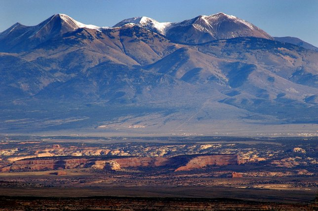 Also on the Hart's Draw Road is this excellent, unobstructed view of the La Sal Mountains near Moab, Utah.