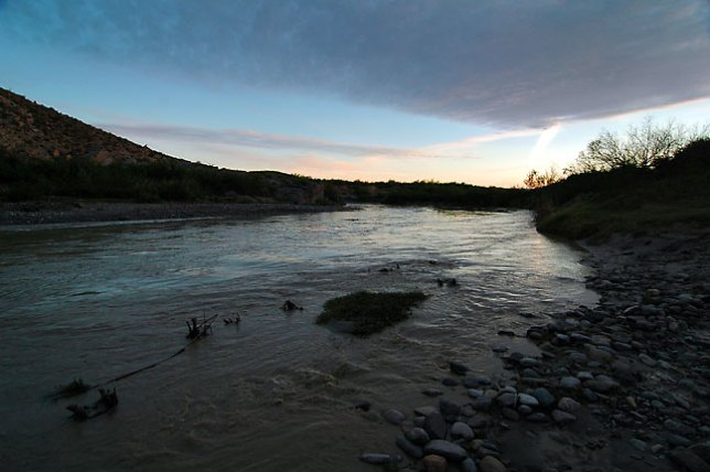 Rio Grande after sunset, Boquillas Canyon, Big Bend.