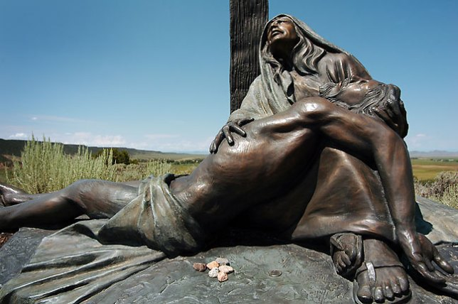 Bronze Station of the Cross, San Luis Mission and Shrine.