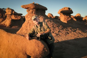 The author poses in Goblin Valley.
