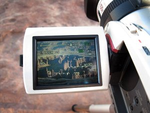 My camcorder makes a 40-minute time-lapse sequence of sunset on the Monument Basin area of Canyonlands National Park.