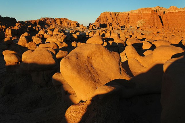 The heart of Goblin Valley at last light.