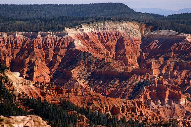 Cedar Breaks National Monument seen from Brian Head peak.