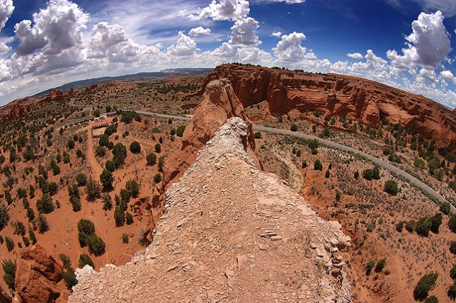 Fisheye overview of Kodachrome Basin State Park, Utah