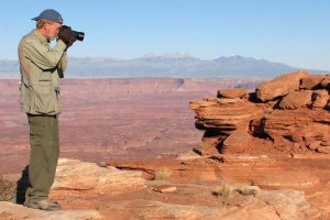 Richard makes pictures at Canyonlands National Park, October 2008.