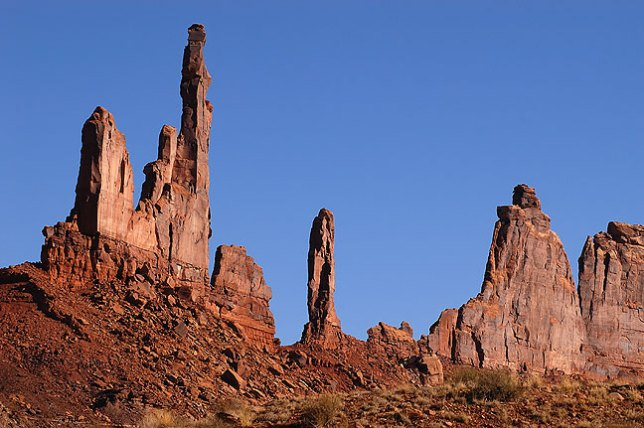 Zeus and Moses formations at the end of the Alcove Spring trail, Canyonlands.