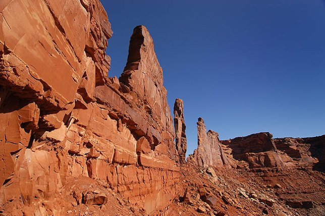 Along the Zeus and Moses loop, Canyonlands.