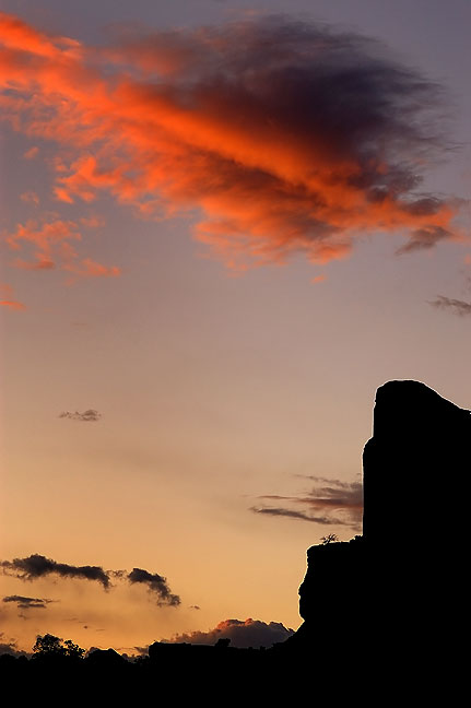 Sunset at the Green River Overlook, Canyonlands.