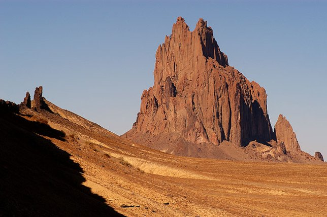 Afternoon, Shiprock Peak, New Mexico.