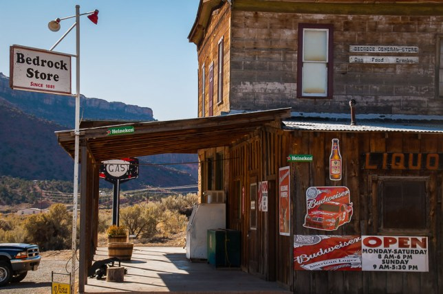 Abby made this definitive photo of the Bedrock, Colorado General Store on our drive east.