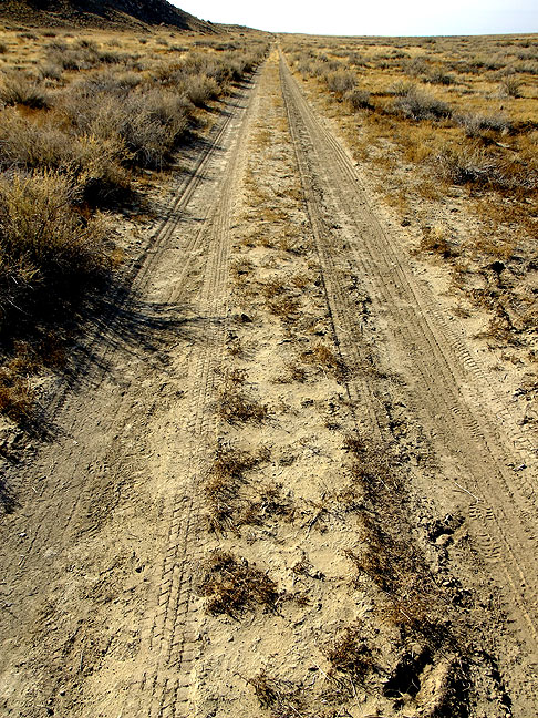 The last part of the South Mesa trail follows this Park Service maintenance road
