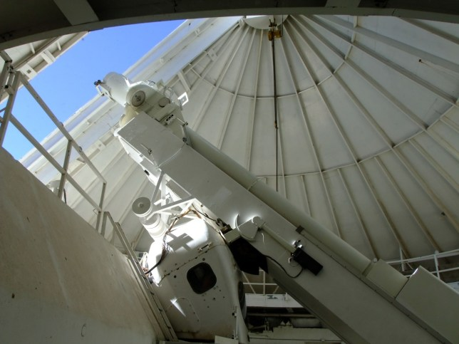 This is an interior view of one of the solar telescopes at the National Solar Observatory.