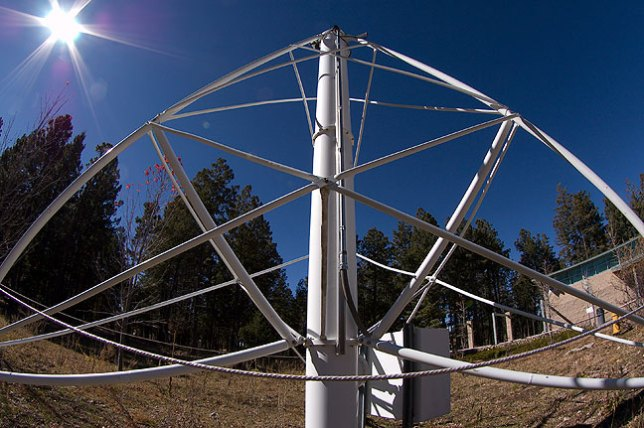This retired solar telescope was on display at the NSO; it once served in Antarctica.