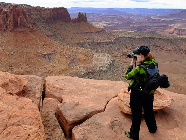 Abby makes images at the end of the Grand View Point trail at Canyonlands. It was her first time to visit Canyonlands, which has been one of my favorite places for years.