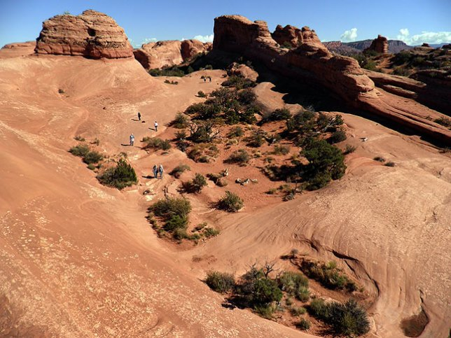 This was my view from above the trail; despite hiking to the Arch many times, this was the first time I explored this route.