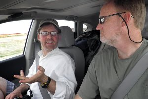 Robert and I enjoy a discussion as we wind our way through eastern New Mexico.