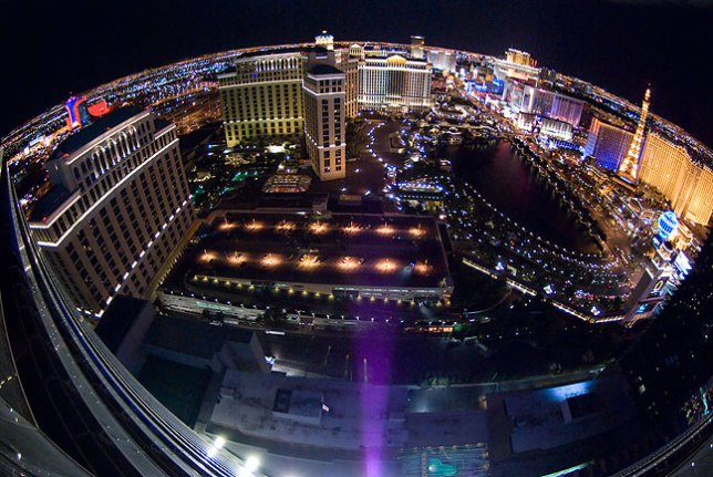 This amazing fisheye view from our Las Vegas hotel room seems a fitting final image to a truly amazing, incredibly fun seventh anniversary vacation for my wonderful wife Abby and me.