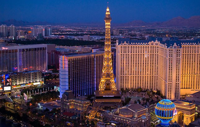 The half-scale Eiffel Tower of the Paris Las Vegas dominates this image looking northeast. Despite shooting hundreds of images, I feel like I could explore The Strip for days, weeks, or even months without getting bored or repeating myself.