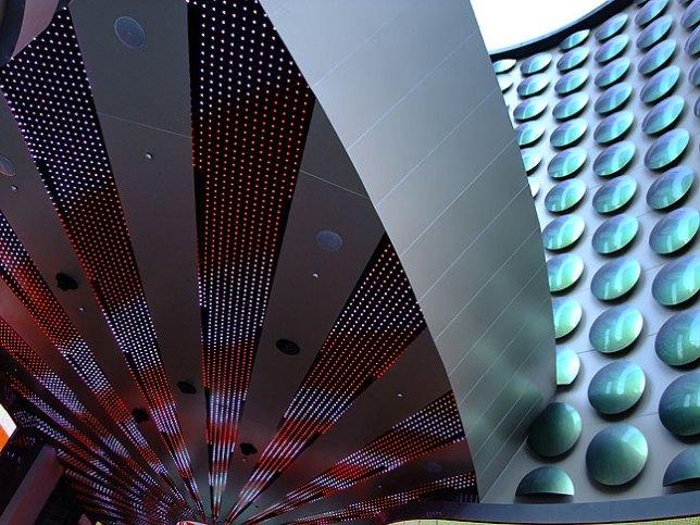 Lights on ceiling, Planet Hollywood, Las Vegas.
